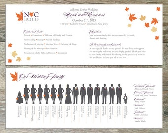 DIY Printable Wedding Program: Blustery Day