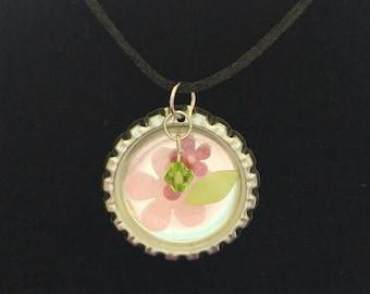 Flower Bottle Cap Necklace