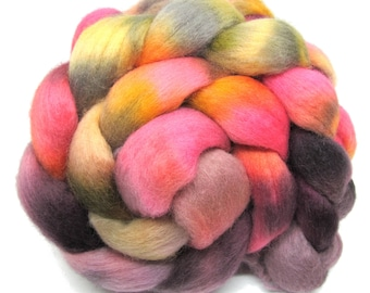 Hand Dyed Corriedale Combed Wool Top 100g 3.5oz CD04