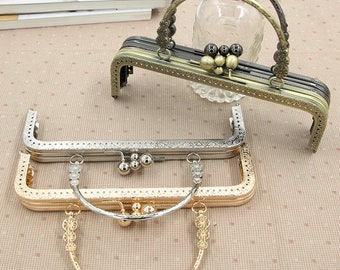 "1pc 20cm/7.87"" coin metal frame portable purse frame purse frame with handle bag frame handbag frame clutch bag frame PU002"
