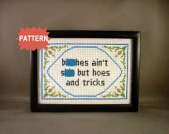 PDF/JPEG b-tches ain't sh-t but hoes and tricks (Pattern)