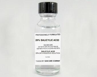 Salicylic Acid 20% Solution, Acne, Blemishes, Pores, Blackheads