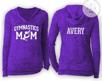Customized Gymnastics Mom Ladies' Burnout Hoody