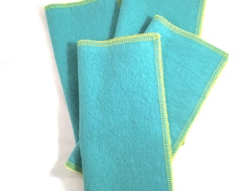 Everyday Napkins Set in Aqua Teal and Lime