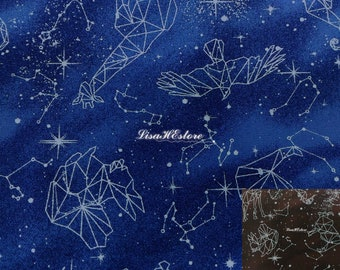 Different signs of the Zodiac, 1/2 yard, pure cotton fabric