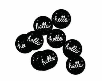 Set of 10 Stickers Hello
