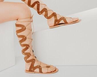 wrap up flat sandals,greek gladiator,lace women sandals,tie up gladiators,knee high sandals,tie up sandals,lace up sandal,leather gladiators