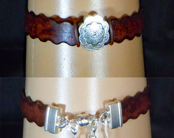 Wavy Leather bracelet.  NC212