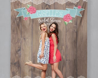 Rustic Lace Photo Booth, Lace Wood Backdrop, Rustic Bridal Shower Backdrop, Sweet Rustic Bride Backdrop, Outdoor Wedding / W-A10-TP REG1 AA3