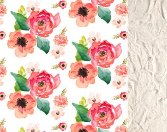 Baby Girl Watercolor Blanket, Baby Girl floral Blanket, Lovey Girl Blanket