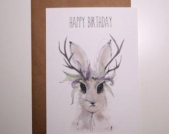 Wild Rabbit A5 Card