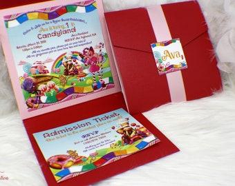 Candyland Invitation, Candy land birthday invitation, Candy invitation, Candyland Party, Sweet Shop Invitation, Candyland Birthday, Candy