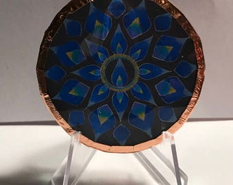 Blue Flame Mandala Disc