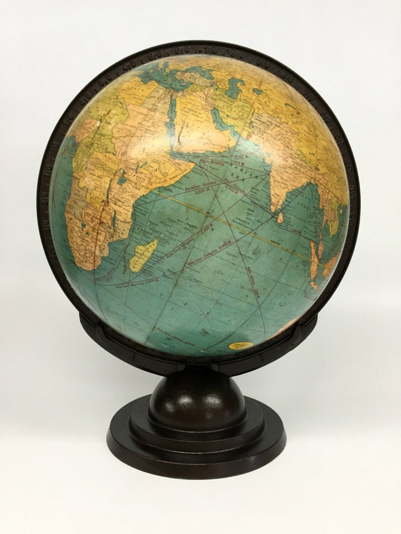 - Antique World Globe Cram's Terrestrial Globe Desk Globe