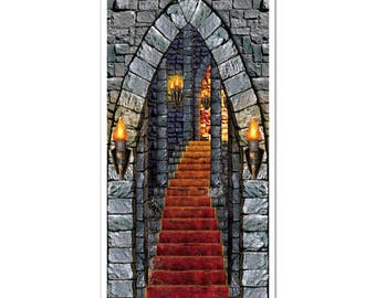 Castle Entrance Door Cover/ Game of Thrones Party Decor/ Medieval Party Decor/ Castle Party Decor