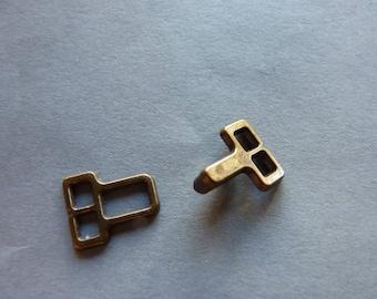 Ties / clips for pants or skirt in metal BRONZE