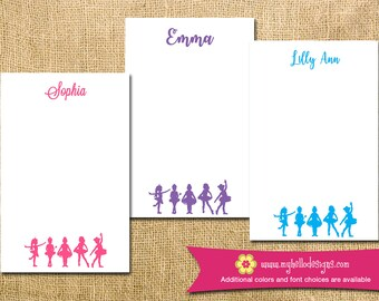 Personalized Ballerina Notepad - ballet dance mom kid child children teacher to do list gift list pad custom personalize monogram holiday