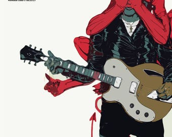 Queens of the Stone Age Poster - Villains - Custom Band Posters - QOTSA - Josh Homme - American Rock - Gift Alternative
