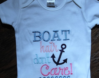 Nautical,  anchor, bodysuit, baby girl, Sailboat, beach, lake, boat hair,  custom, baby shower gift, new baby gift, baby girl clothes,