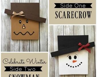 DIY Kit - Reversible Scarecrow/Snowman Board