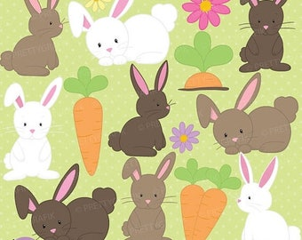 80% OFF SALE bunny clipart commercial use, vector graphics, digital clip art, digital images  - CL507