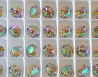 12 Paradise Shine Foiled 8mm SWAROVSKI ELEMENTS crystal 1088 ss39 Chatons