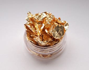 Gold nail art foil/ Gold foil leaf for nails/ Gold nail decorations/ Nails/ nail design/ Nail art supplies/ Foil nail decor