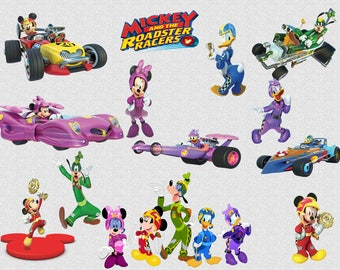 26 Mickey and the Roadster Racers Clipart, 300 DPI, PNG Mickey Roadster Racers Clip Art, Mickey Mouse