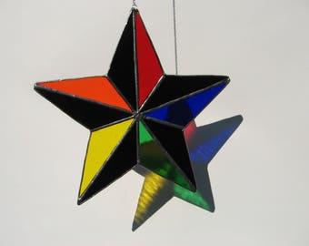 rainbow 5 point star