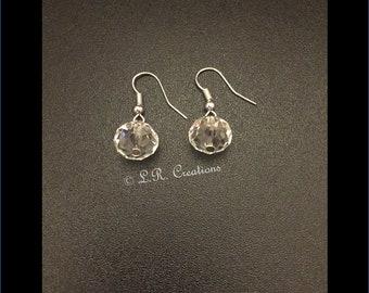 Crystal Rondelle bead earrings (Hook)