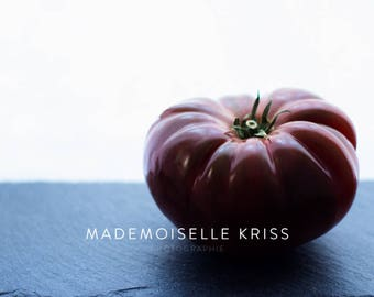 Black Tomato (Food photography Fine Art)