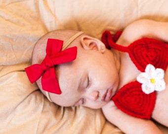 U PICK color  cotton bow,  Headband Baby bow, pinwheel fabric headband, newborn headband, nylon girl