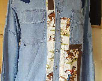 Cowboy Shirt - Upcycled - Mens