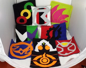 Kamen Rider Pillows - from W to Build