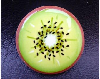 Cabochon kiwi fruit x 1