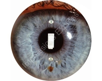 Eye Ball Single Toggle Switch Plate Cover