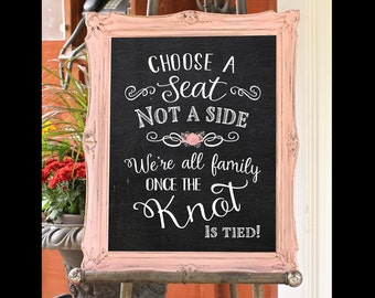 Wooden wedding games signs i spy scavenger hunt with choose a seat not a side chalkboard wedding sign 16 x 20 printable wedding solutioingenieria Image collections