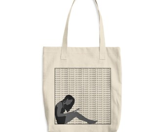 Book tote bag, go away I'm reading, cotton tote bag, bag for books, everyday tote, purse, shoulder bag, gift for book lover, reading quote