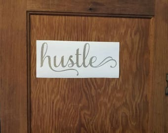 HUSTLE BUMPER STICKER decal laptop car truck binders folders windows bikes