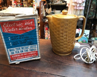 Vintage Japan Makasa Electric Hot Water Heater Coffee Tea Pot
