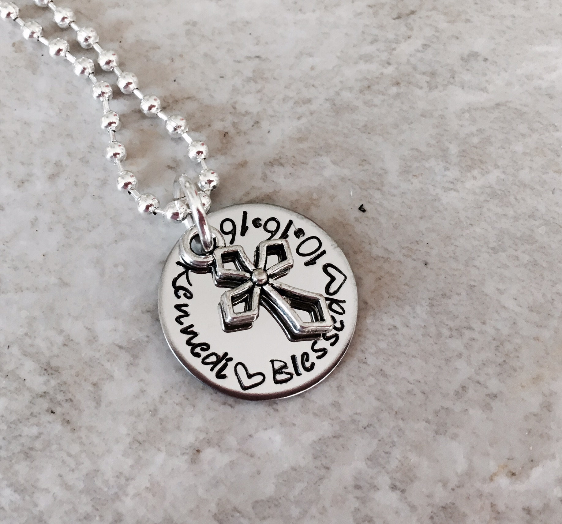 il communion necklace personalized charm baptism cross bible hand stamped fullxfull silver listing with holy sterling verse confirmation