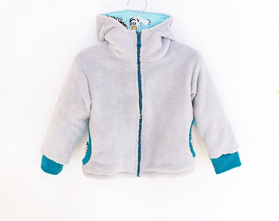 TIGER Hoodie Boy Girl Jacket pattern Pdf sewing pattern Woven