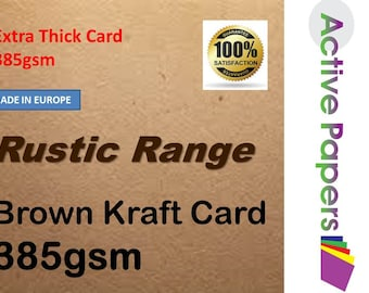 Extra thick brown kraft card 385gsm all sizes in stock