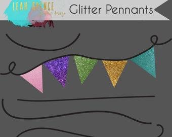 Pennant / Banner Digital Clip Art, Wedding, INSTANT download, Hand Drawn Digital Illustrations, PNG,  Digital Drawing, scrapbook