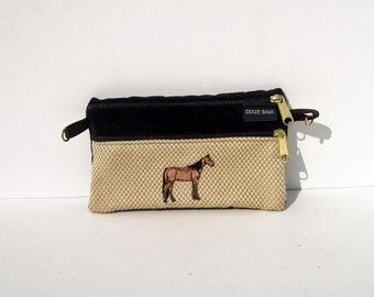 Morgan Horse  2 Compartment Pouch