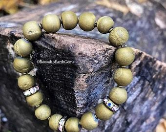 Golden Druzy Healing Bracelet