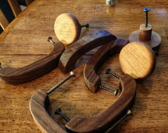 Various shapes wooden handles