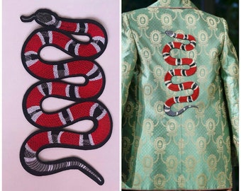 Gucci patch red snake/embroidered patch/patch GUCCI iron on.