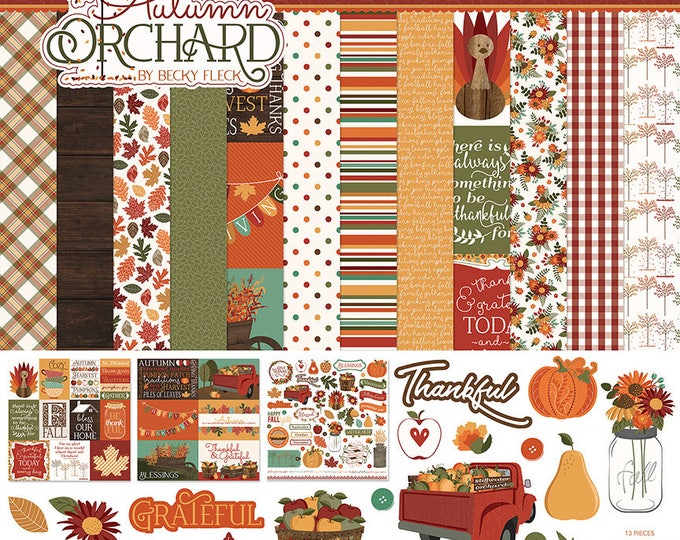 Photo Play AUTUMN ORCHARD 12x12 Scrapbook Cardstock Paper Collection Kit