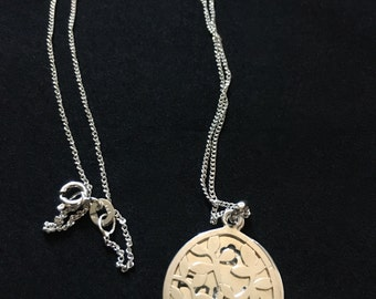Vintage Sterling Silver Family Tree Necklace